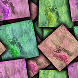 Abstract Paint squares Stock Photo