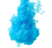 Abstract paint splash. Abstract splash of blue paint isolated on white background royalty free stock photography