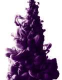 Abstract paint splash. Abstract splash of purple paint isolated on white background stock photos