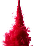 Abstract paint splash. Abstract splash of red paint isolated on white background stock photo