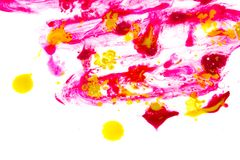 Abstract paint splash on the white background.  Stock Photos