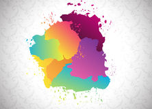 Abstract paint splatter elements. Clip-art Royalty Free Stock Photo