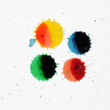 Abstract Paint Spots and Dots Stock Photography