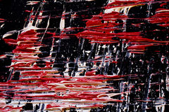 Abstract Paint Streaks and Marks on Black Background Royalty Free Stock Images