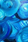 Abstract painted background in blue Stock Images