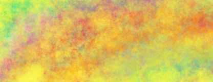 Abstract painted background illustration with cloudy texture in blotchy pattern of yellow blue orange red purple gold and green royalty free illustration