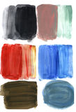 Abstract painted blobs and textures. Acrylic colorful blots. Royalty Free Stock Images