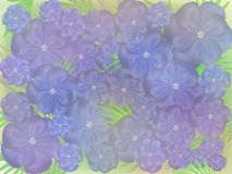 Abstract blue flowers Royalty Free Stock Photos