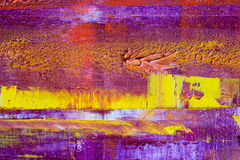 Abstract painted canvas. Oil paints on a palette. Stock Images
