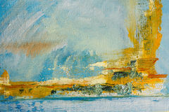Abstract painted canvas. Oil paints on a palette. Royalty Free Stock Photos