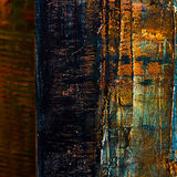 Abstract painted canvas. Oil paints on a palette. Stock Photo