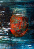 Abstract painted canvas. Oil paints on a palette. Stock Photos