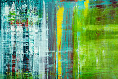 Abstract painted canvas. Oil paints on a palette. Stock Photography