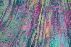 Abstract painted Concrete as multi color background of varicolored strokes of brush, Oil painting art picture color full, creative stock photography