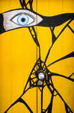 Abstract painted door graffiti art Stock Photo