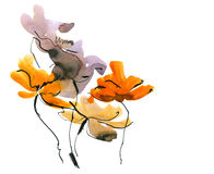 Abstract painted floral background vector illustration