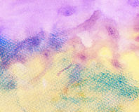 Abstract painted on grainy paper colorful watercolor background Stock Photography