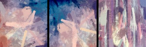 Abstract Painted Grunge Smears Stock Images