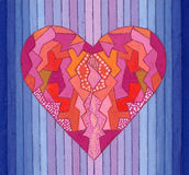 Abstract painted heart Royalty Free Stock Photography