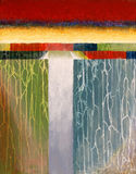 An abstract painted image. With associations of a wall and water Royalty Free Stock Image