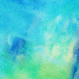 Abstract painted ink background. Abstract blue and green ink background Stock Image