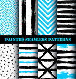 Abstract Painted Pattern Set Royalty Free Stock Image