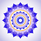 Abstract painted picture mandala of Sahasrara Stock Images