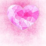 Abstract painted pink texture and big heart Royalty Free Stock Photo