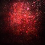 Abstract painted red background with sparkles Royalty Free Stock Image