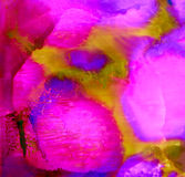 Abstract painted smudged pink textured. Colorful background hand drawn with bright inks and watercolor paints. Color splashes and splatters create uneven Royalty Free Stock Image
