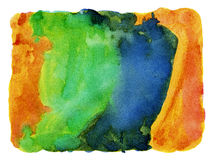 Abstract painted watercolor background. Abstract colorful painted watercolor background Stock Photography