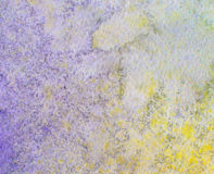 Abstract painted watercolor background on paper texture. Stock Image
