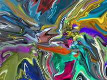 Abstract Painters Palette. With a variety of colors Stock Photos