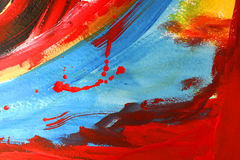 Abstract painting. Photo of my abstract painting Royalty Free Stock Photo