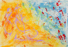 Abstract painting stock illustration