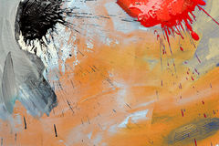 Abstract painting. Photo of my abstract painting royalty free illustration