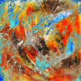 Abstract painting. Colorful original abstract painting created in Photoshop Royalty Free Stock Photo