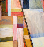 An abstract painting. A modernist abstract image; blocks of color Royalty Free Stock Photos