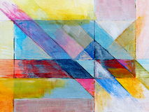 An abstract painting. A modernist abstract image; blocks of color Stock Photo