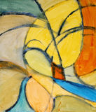 An abstract painting. Featuring grunby loops and curves Royalty Free Stock Photos