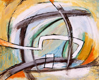 An abstract painting. A colourful modernist abstract painting Royalty Free Stock Image