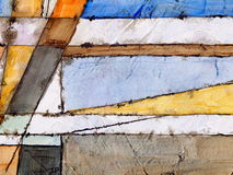 An abstract painting. An abstract watercolor and ink painting Stock Image