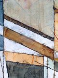 An Abstract Painting. Watercolour and indian ink Royalty Free Stock Photos