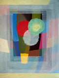 An abstract painting. A highly abstracted still-life painting Stock Photography