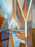 An abstract painting. Geometric abstraction Royalty Free Stock Photos
