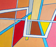 An abstract painting. A abstract painting  -  an example of geometric abstraction Stock Images