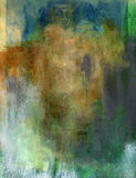 Abstract Painting. An earth toned somewhat neutral colored abstract painting with textural qualities. Works also for montage either as full color or reduced to Royalty Free Stock Image