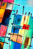 Abstract painting. Close-up of a colorful abstract painting