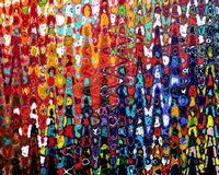 Abstract Painting-Acrylic on canvas painting Stock Photography