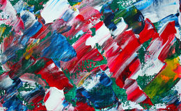 Abstract painting. Art abstract paint with acrylic colors Stock Photography
